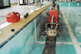 プールの塗装剥離 イメージ1